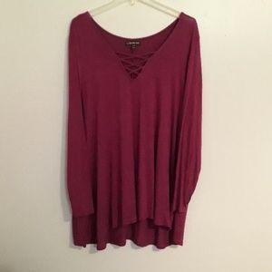 Lane bryant purple tunic ❤